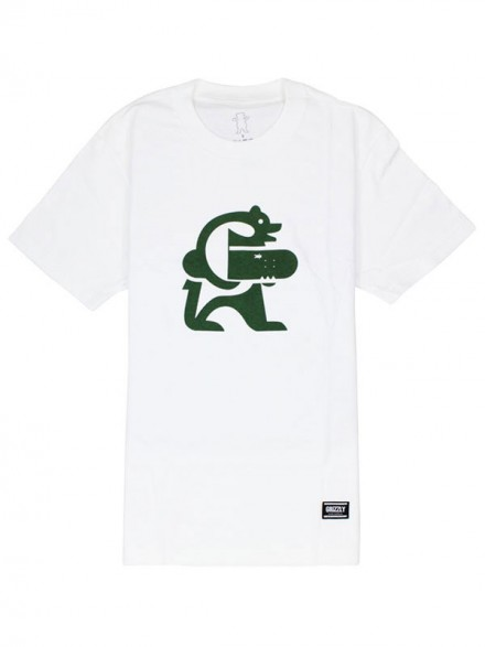 Playera Grizzly Iconic White