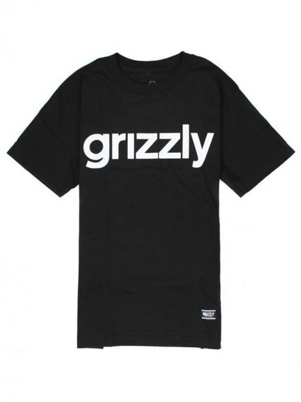 Playera Grizzly Lowercase Black
