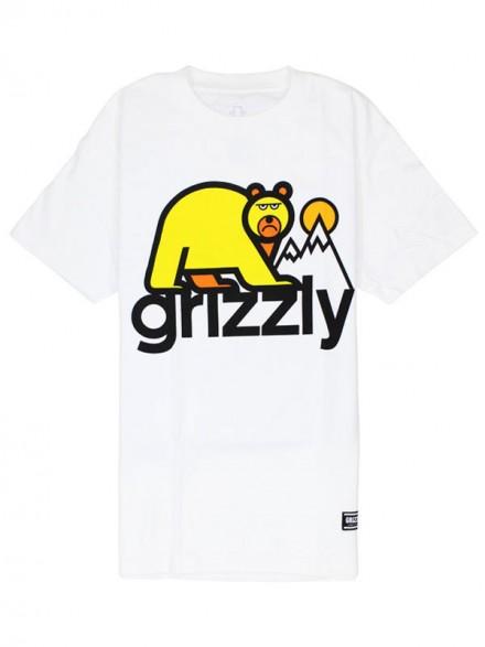 Playera Grizzly Mount Fuji White