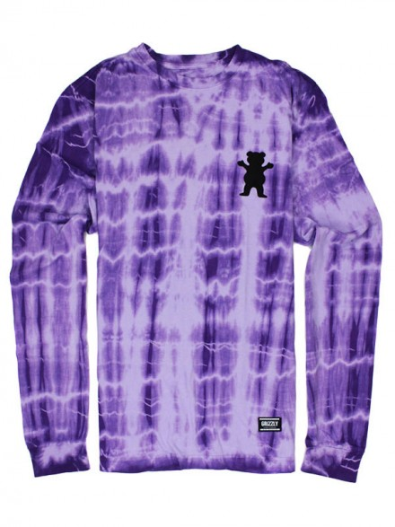 Playera Grizzly Nevermind M/L Purple Tie Dye