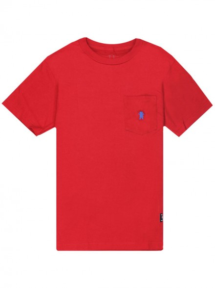 Playera Grizzly OG Bear Embroidered Pocket Red