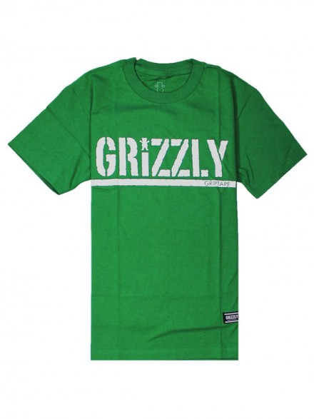 Playera Grizzly OG Stamp Logo Basic Kelly Green