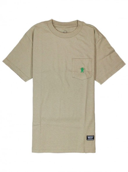 Playera Grizzly Og Bear Embroidered Pocket Sand