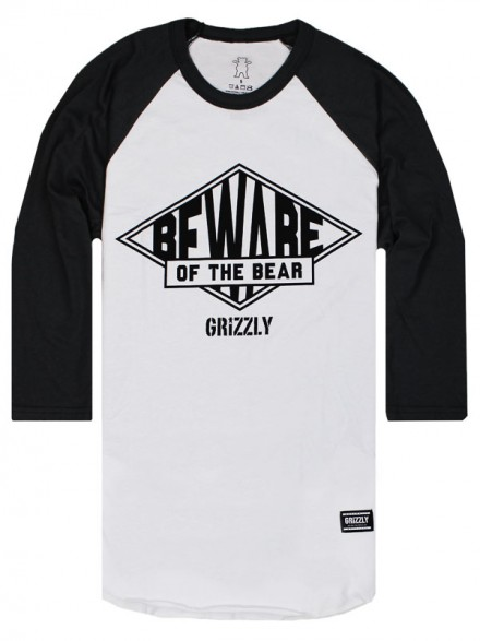 Playera Grizzly Pyramid Raglan 3/4 Grey