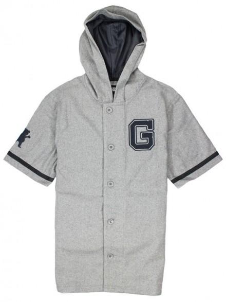 Playera Grizzly Warning Track Baseball Jersey Grey