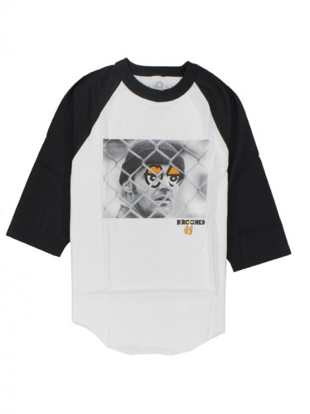 Playera Krooked Kuckoo 3/4 White Black