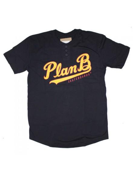 Playera Plan B Henley S/S Nvy