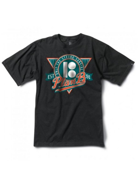 Playera Plan B Trifecta S/S Blk