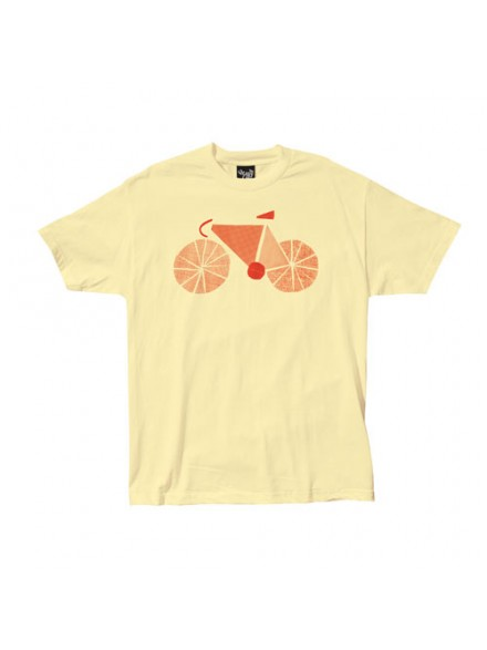 Playera Quiet Life Bicycle Light Yellow Small