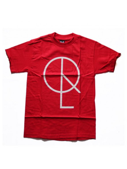 Playera Quiet Life Peace Logo Red Small