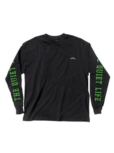 Playera Quiet Life Stash L/S Black L