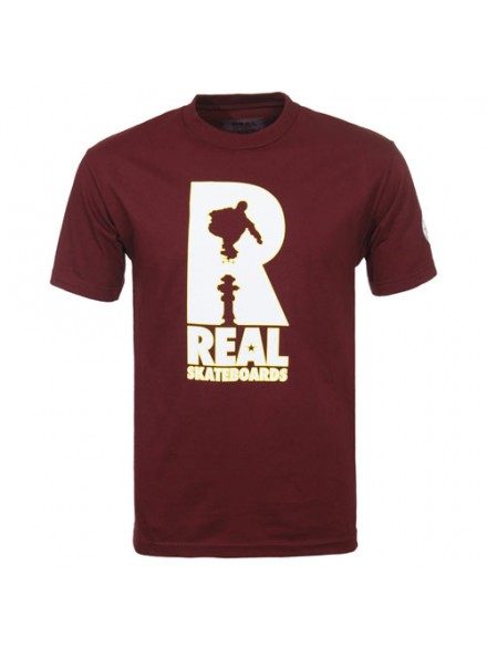 Playera Real Huf Hydrant S/S Burgundy S