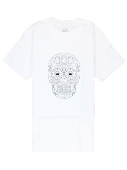 Playera Royal Sugar Skull White