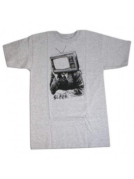 Playera Slave Tv Head S/S Heather Grey Sm