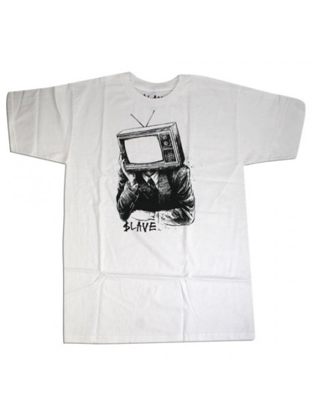 Playera Slave Tv Head S/S White Lg
