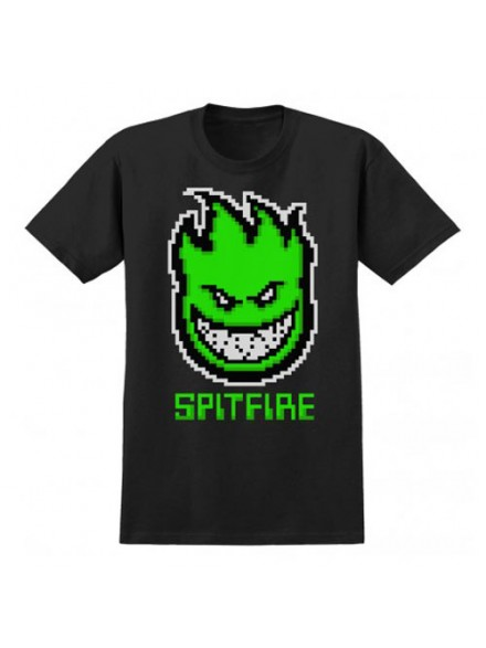 Playera Spitfire 1-Up S/S Blk/Grn S