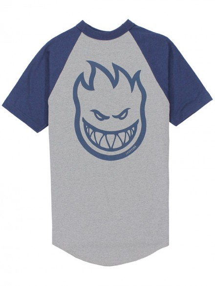Playera Spitfire Bighead Raglan Athletic Navy