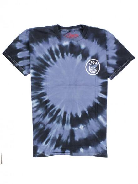 Playera Spitfire Classic Swirl Black Grey Tie Dye