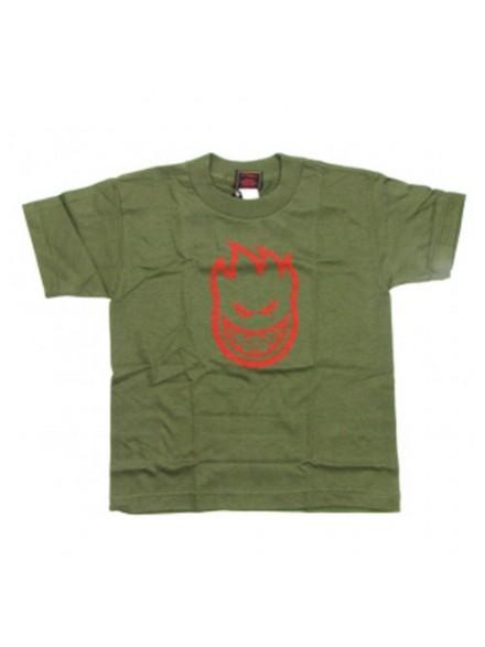 Playera Spitfire S/S Bighead A.Green/Red 7t