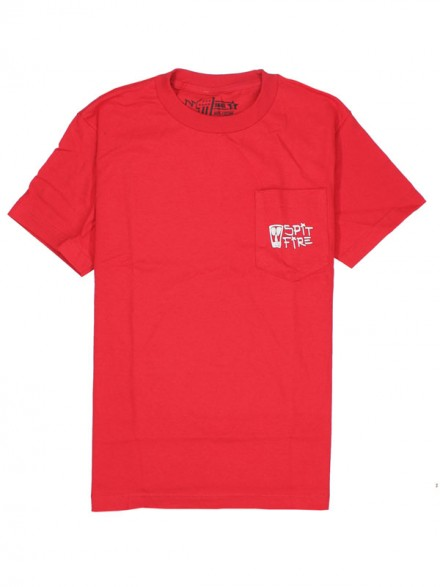 Playera Spitfire Vato Classic Swirl Pocket Red