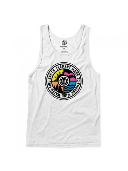 Playera Tank Element Seasonal Wht