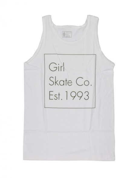 Playera Tank Girl Time Stamp Wht