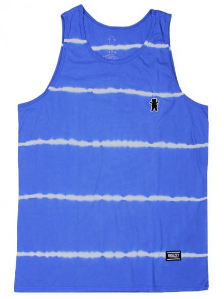 Playera Tank Grizzly Earthquake Stripe Tie Dye Blue