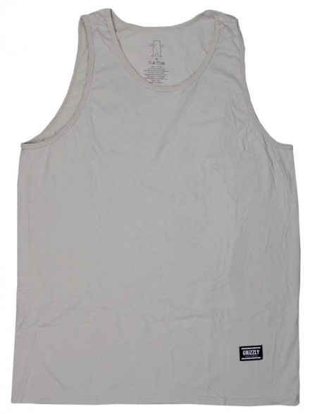 Playera Tank Grizzly Stranded Embroidered Grey