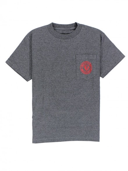 Playera Thunder Mainline Pocket Charcoal Red