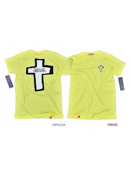 Playera Tricolor Slim Fit La Cruz 3clr Paja Md