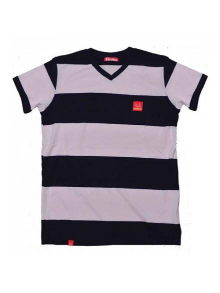 Playera Tricolor Tin Tan Series Negro/Salmon Lg