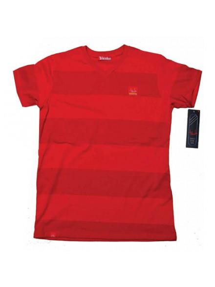 Playera Tricolor Tin Tan Series Rojo/Cereza Lg