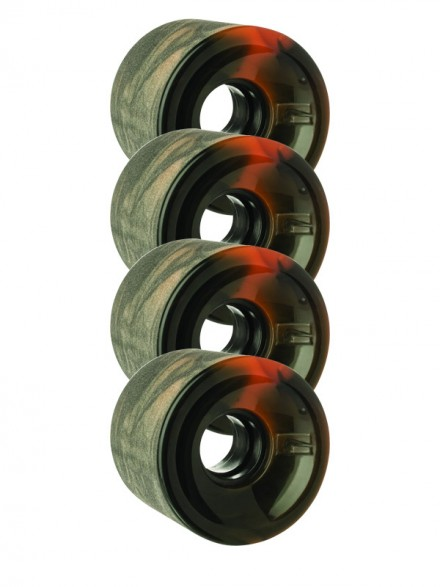 Ruedas Globe Bantam Swirl Black Orange 62mm