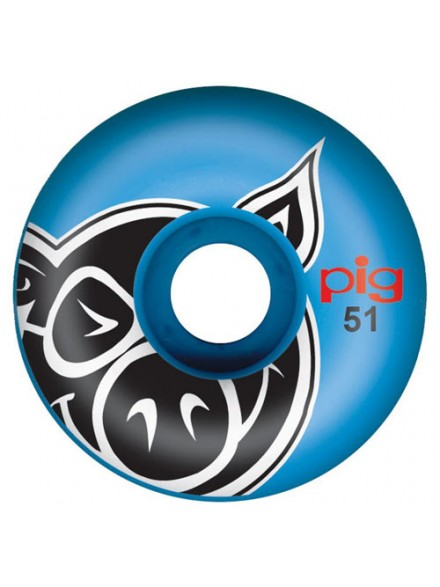 Ruedas Skate Pig Head Blue 51 Mm