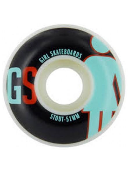 Ruedas Skate Girl Jr Varsity Assorted 51 Mm
