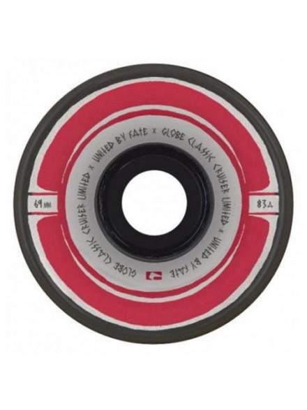 Ruedas Skate Globe Roller Steam Clear/Black/Red 69