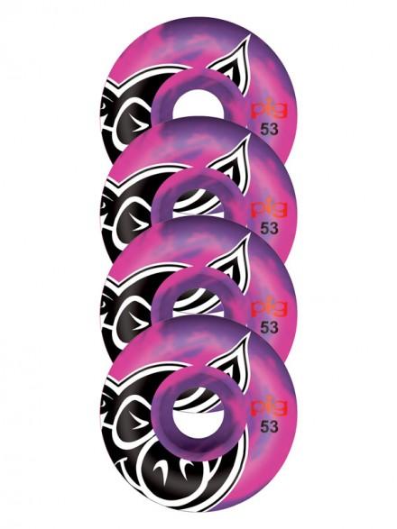 Ruedas Skate Pig Head Swirl Purple 53mm
