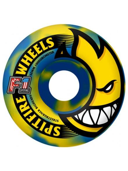 Ruedas Skate Spitfire F1sb Bighead Blu/Ylw 52 Mm
