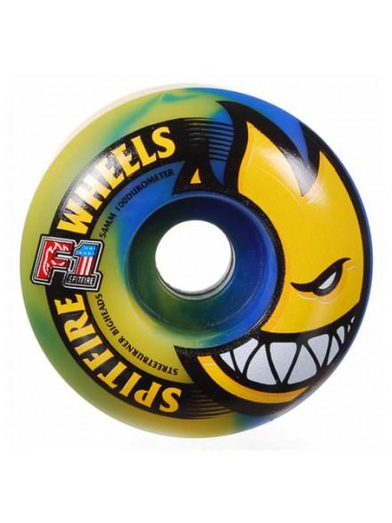 Ruedas Skate Spitfire F1sb Bighead Blu/Ylw 54 Mm