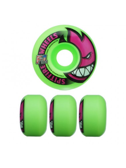 Ruedas Skate Spitfire F1sb Bighead Neon Green 52 Mm