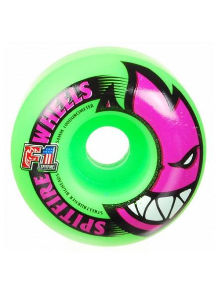 Ruedas Skate Spitfire F1sb Bighead Neon Green 54 Mm