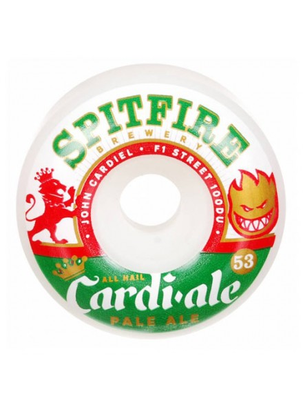 Ruedas Skate Spitfire F1sb Cardiel Ale Wht 53 Mm