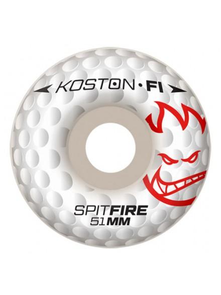 Ruedas Skate Spitfire F1sb Koston Hole F1 Wht 51 Mm