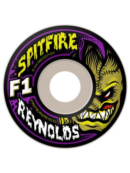 Ruedas Skate Spitfire F1sb Reynolds Mnstr Wht 51 Mm