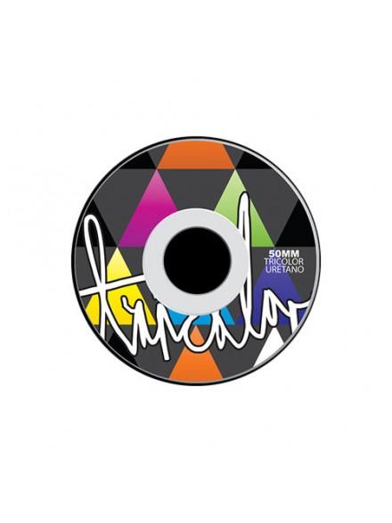 Ruedas Skate Tricolor 3d/1 50 Mm