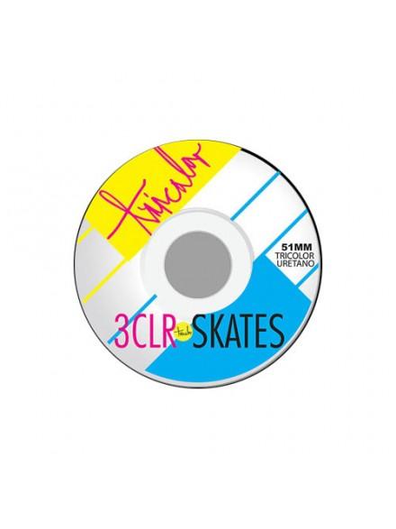 Ruedas Skate Tricolor Og Restro Trico 51 Mm