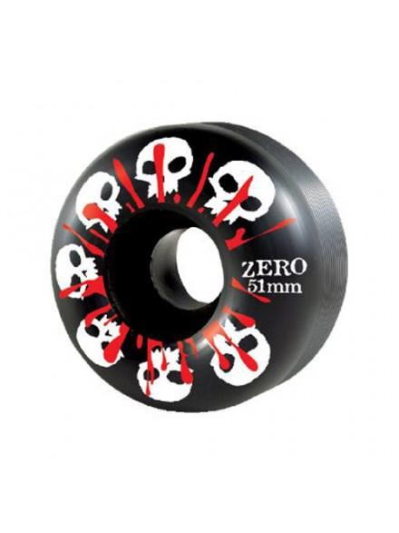 Ruedas Skate Zero Skulls W/Blood Black 51 Mm
