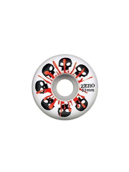 Ruedas Skate Zero Skulls W/Blood White 53 Mm