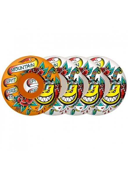 Ruedas Skate Spitfire Og Flash Mountain 53mm