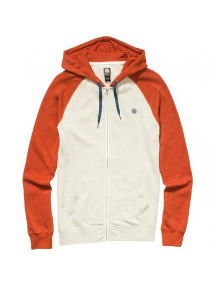 Sudadera Element Vermont Zip Rust